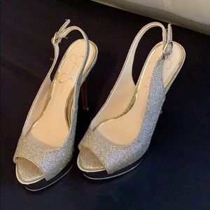 Jessica Simpson Shoes - Jessica Simpson Gold Heels